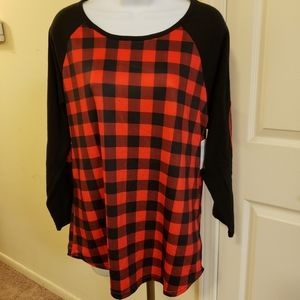 Buffalo plaid Raglan